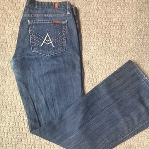 7 For All Mankind: partial flare jeans